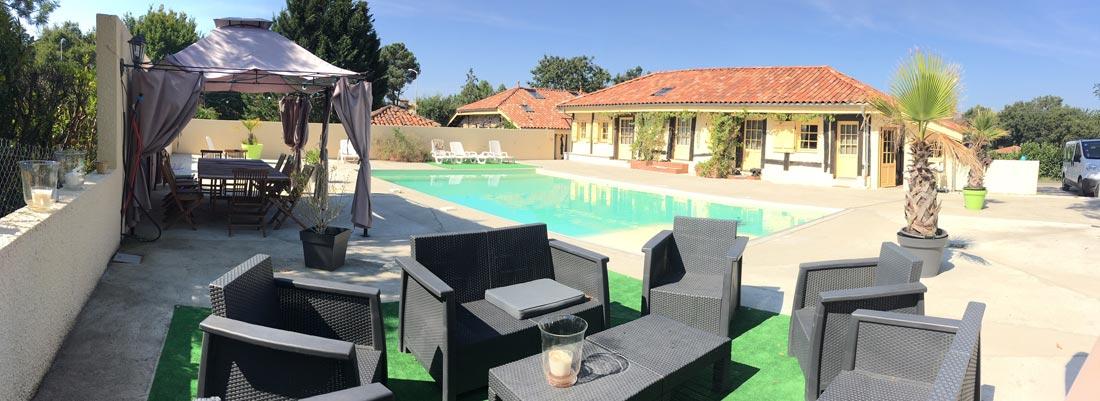 Gîte avec piscine, Mimizan, Landes