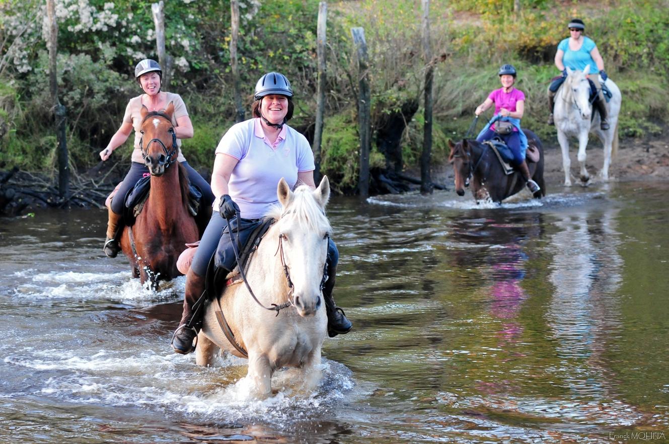 gué de Contis à cheval