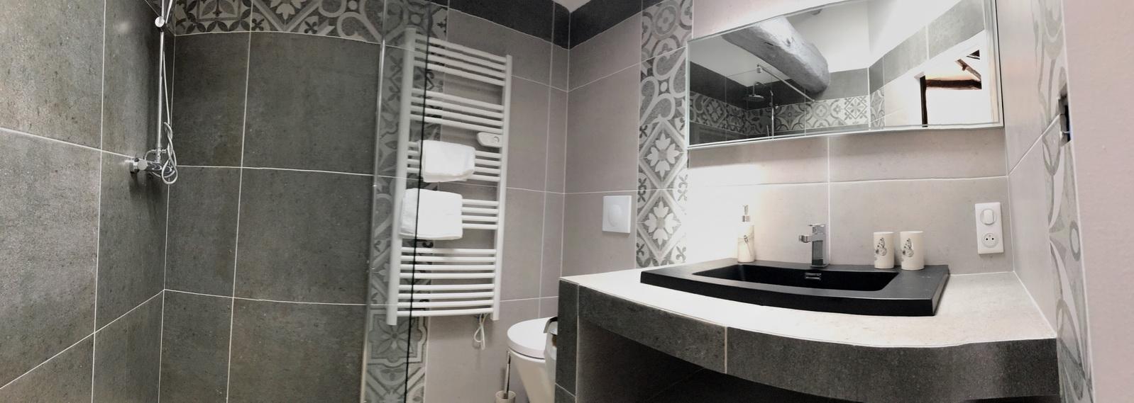Gite Mimizan salle de bain chambre 4